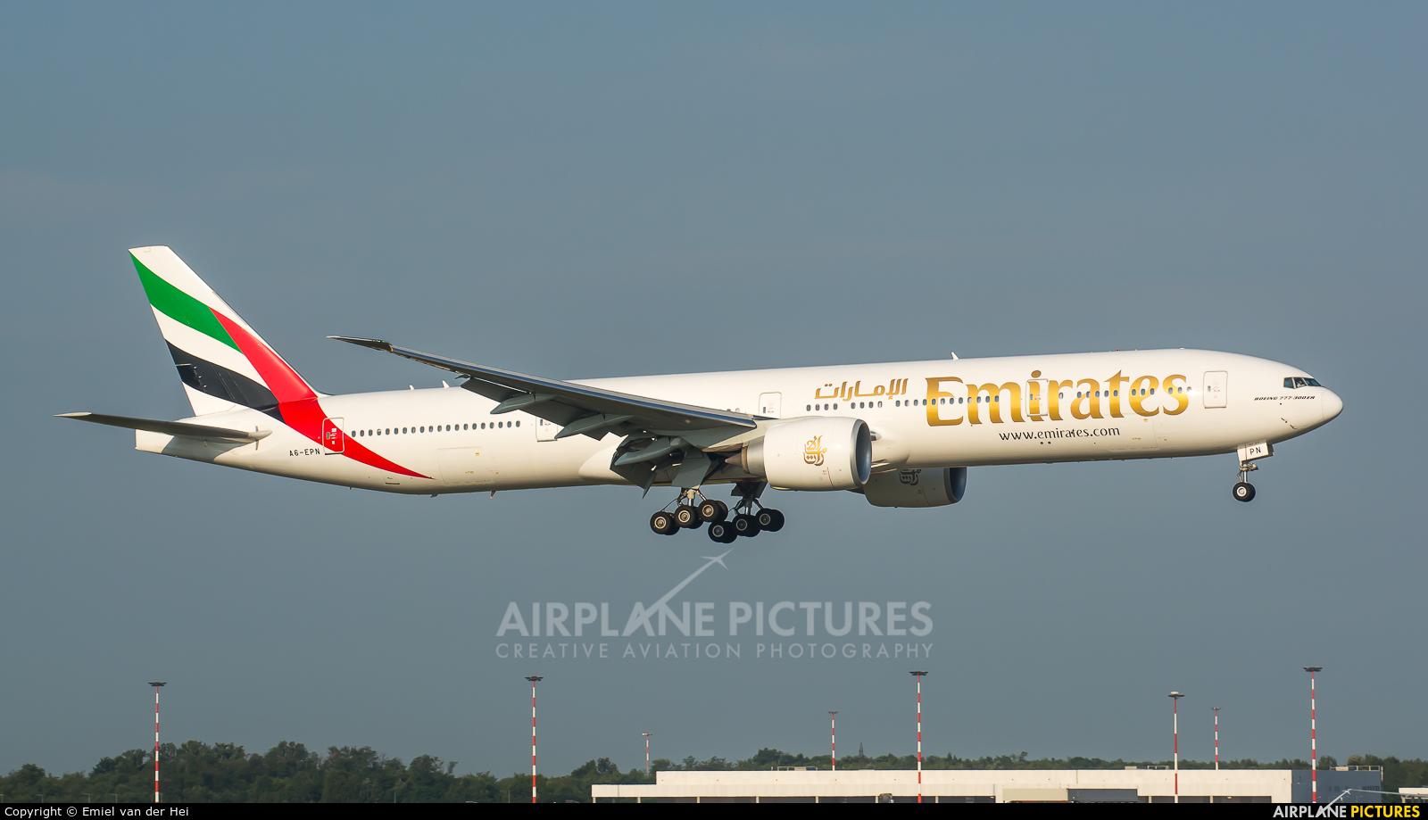 Emirates Airlines A6-EPN aircraft at Milan - Malpensa