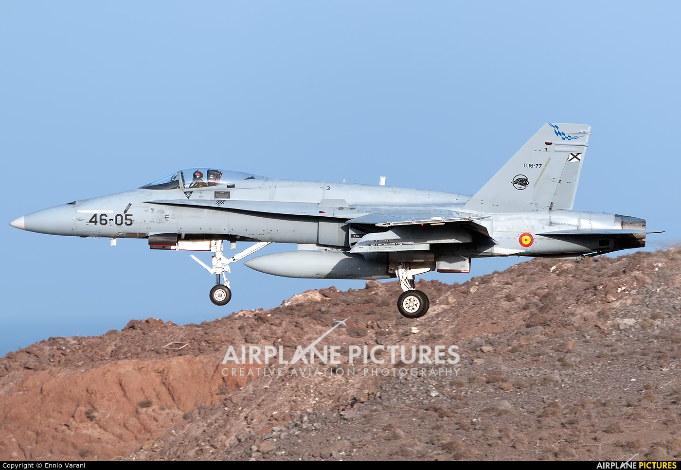 Spain - Air Force C.15-77 aircraft at Las Palmas de Gran Canaria