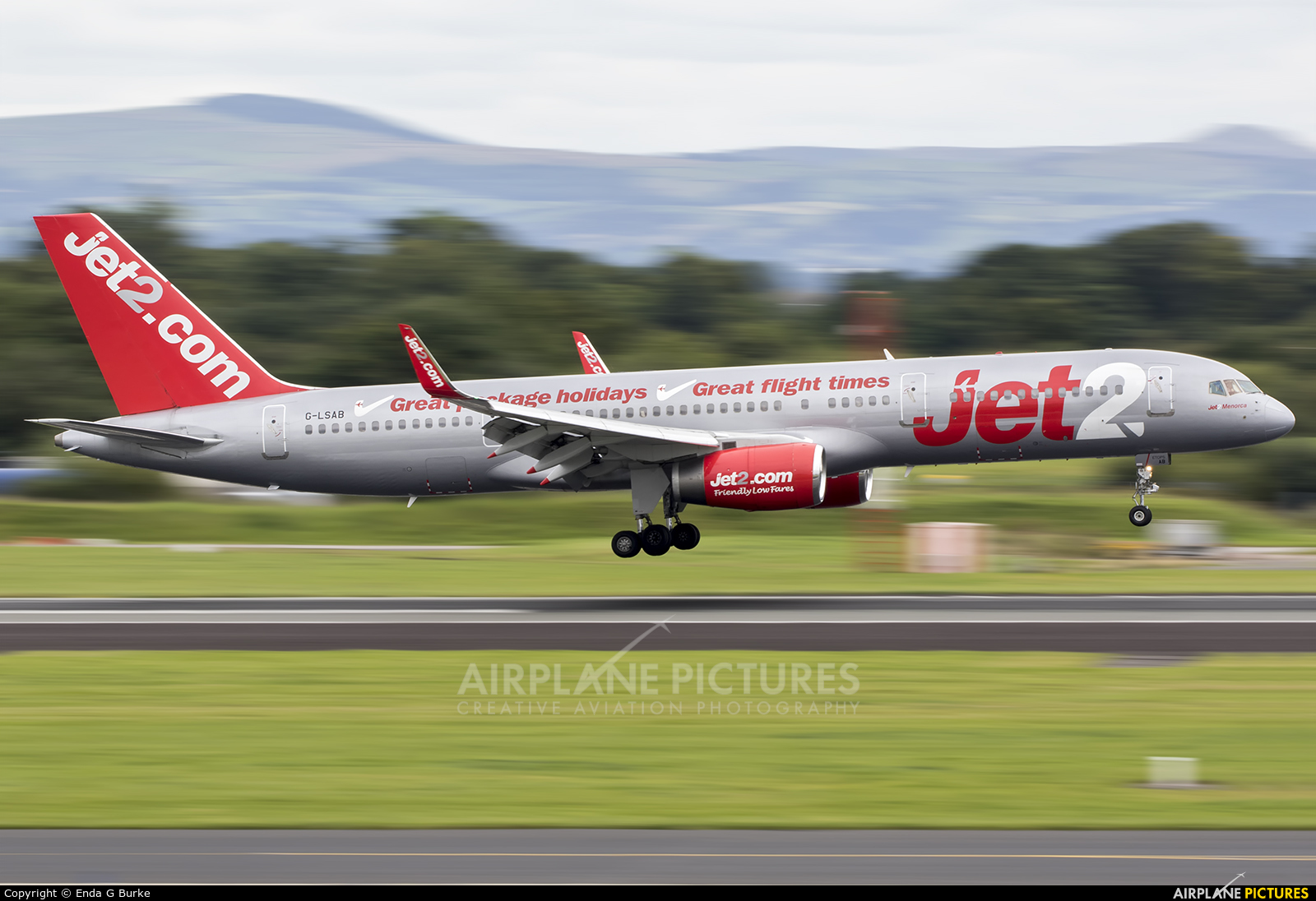 Jet2 G-LSAB aircraft at Manchester
