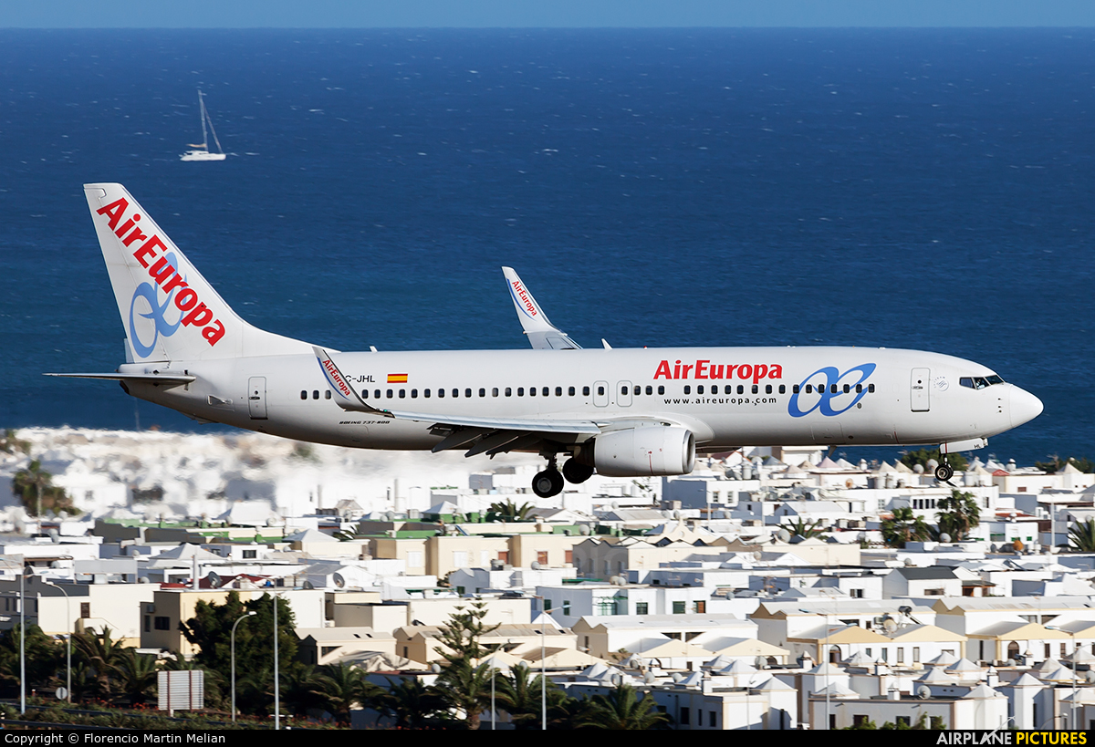 Air Europa EC-JHL aircraft at Lanzarote - Arrecife