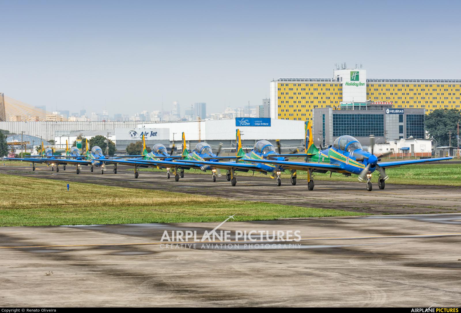 """Brazil - Air Force """"Esquadrilha da Fumaça"""" FAB5707 aircraft at São Paulo - Campo de Marte"""