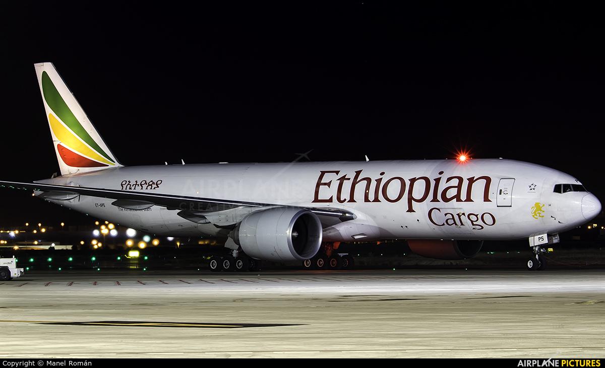 Ethiopian Cargo ET-APS aircraft at Zaragoza