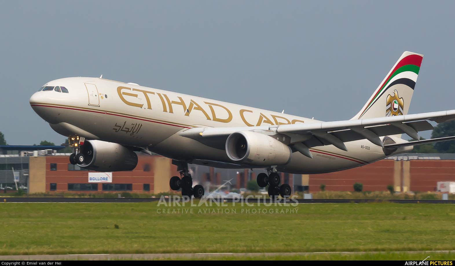 Etihad Cargo A6-DCD aircraft at Amsterdam - Schiphol