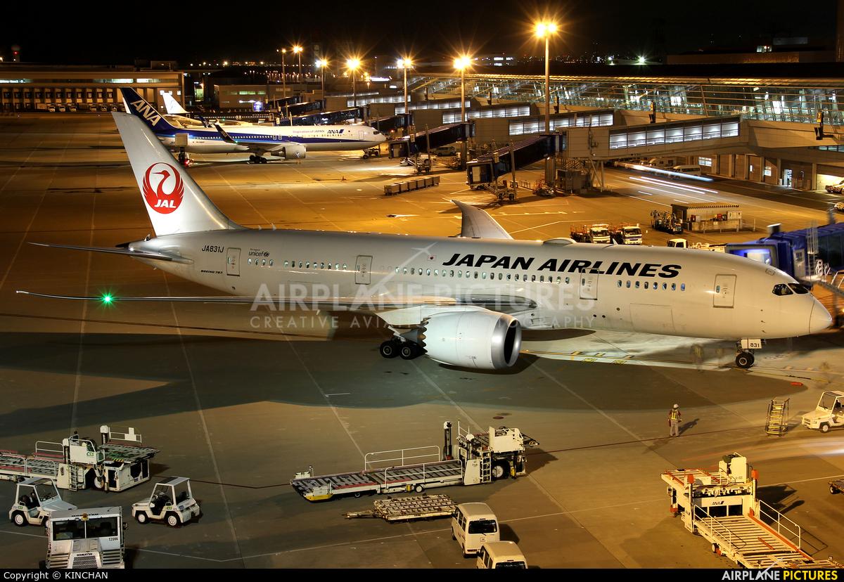 JAL - Japan Airlines JA831J aircraft at Chubu Centrair Intl