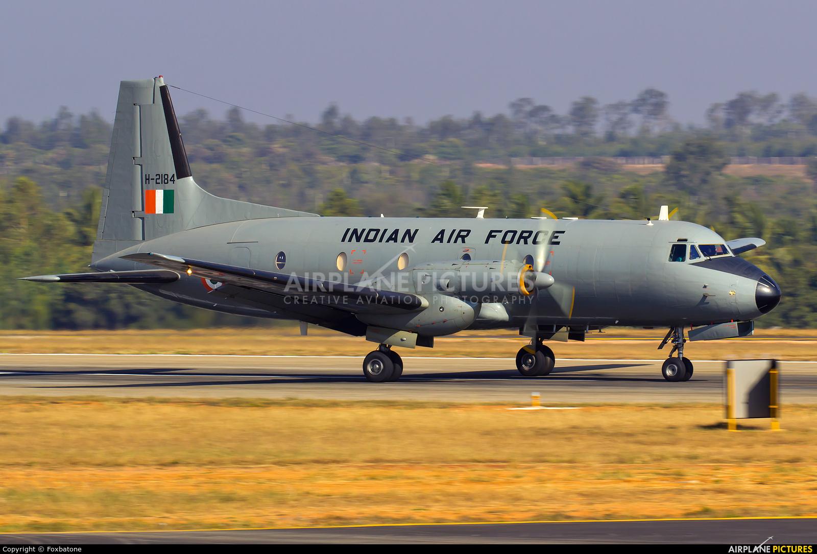 India - Air Force H-2184 aircraft at Yelahanka AFB