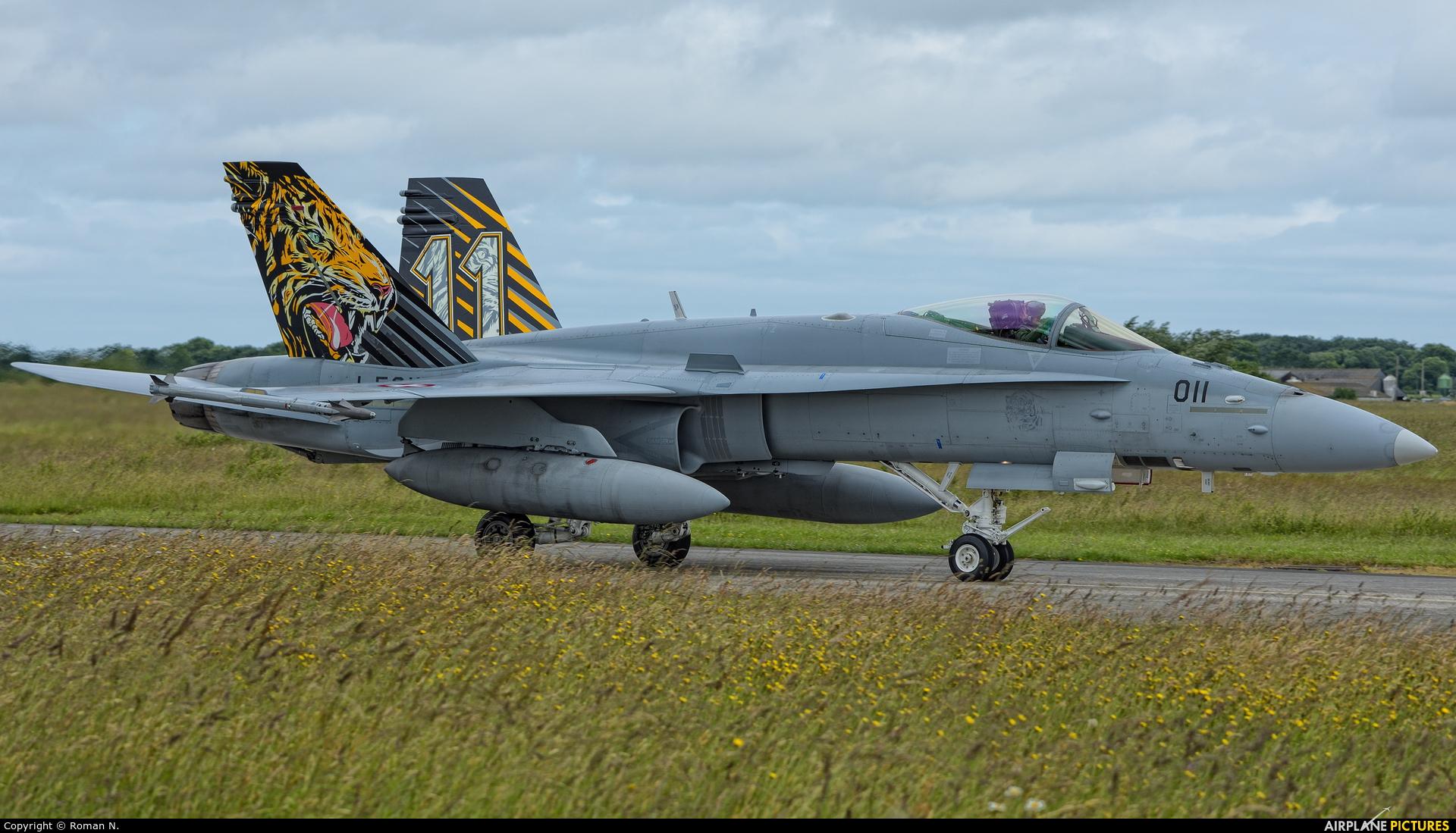 Switzerland - Air Force J-5011 aircraft at Landivisiau