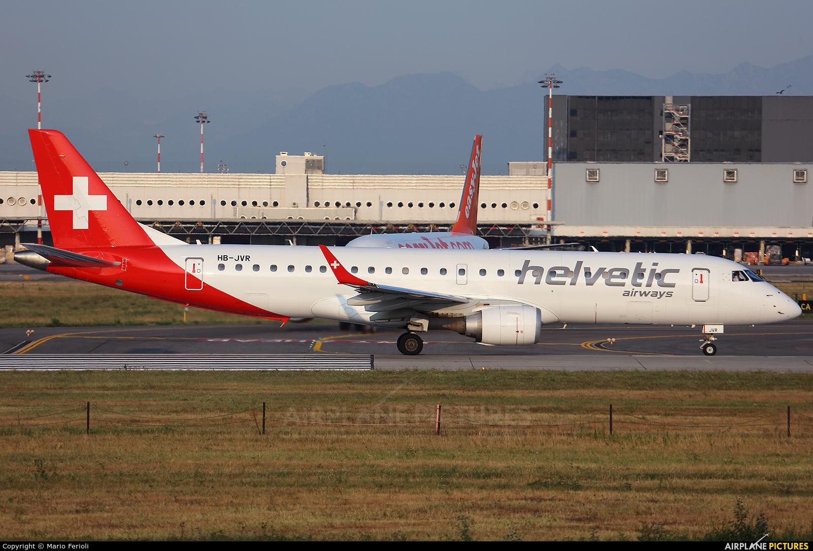 Helvetic Airways HB-JVR aircraft at Milan - Malpensa