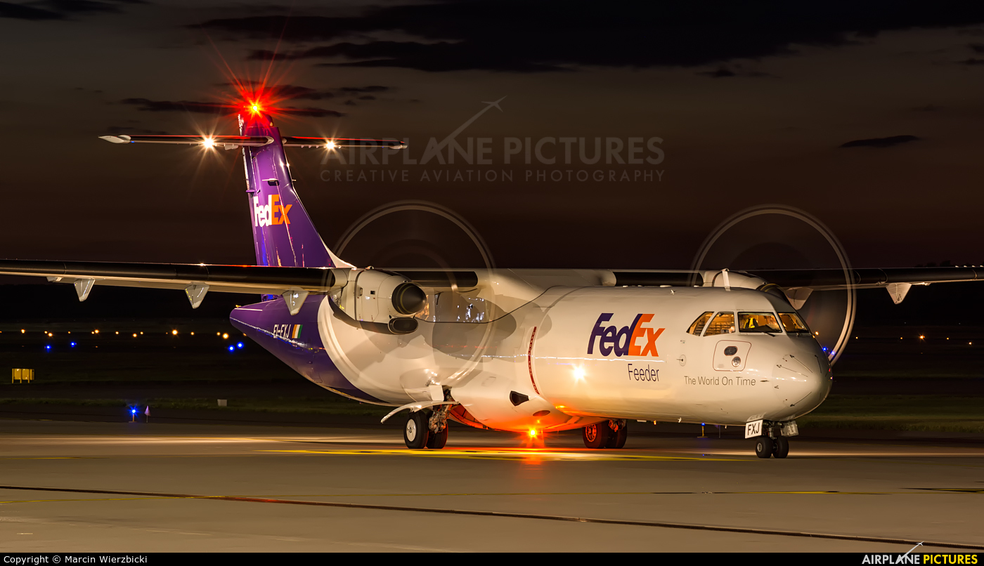 FedEx Feeder EI-FXJ aircraft at Katowice - Pyrzowice