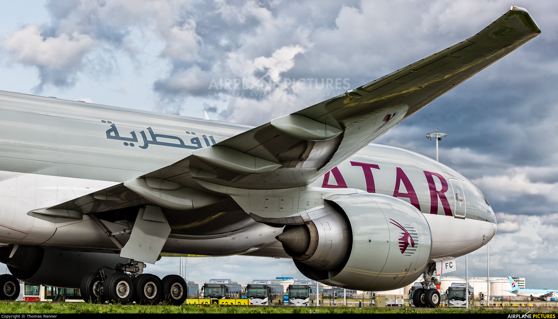 Qatar Airways Cargo A7-BFC aircraft at Amsterdam - Schiphol