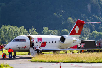 HB-JRA - REGA Swiss Air Ambulance  Canadair CL-600 Challenger 604