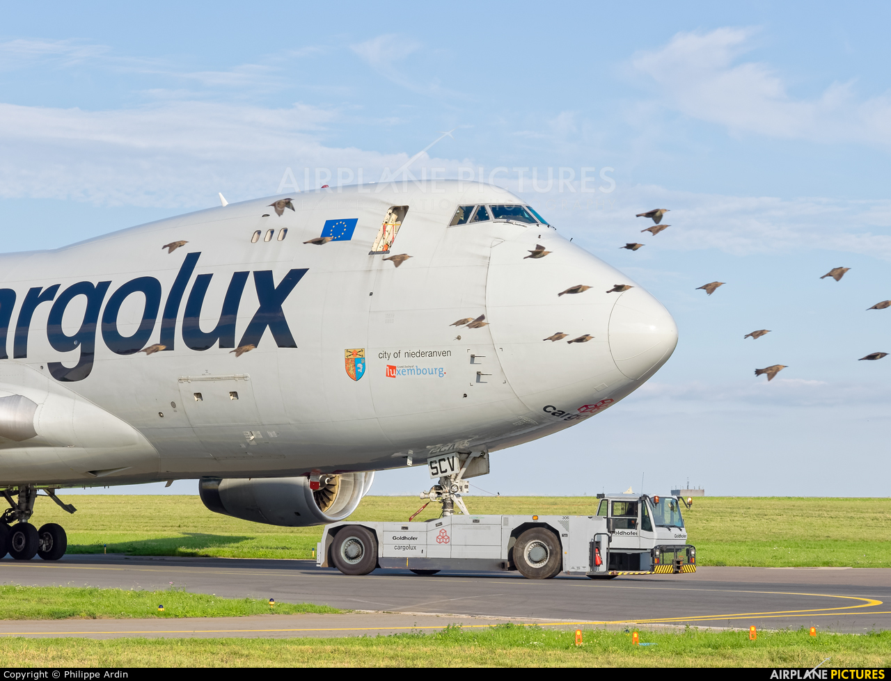 Cargolux LX-SCV aircraft at Luxembourg - Findel