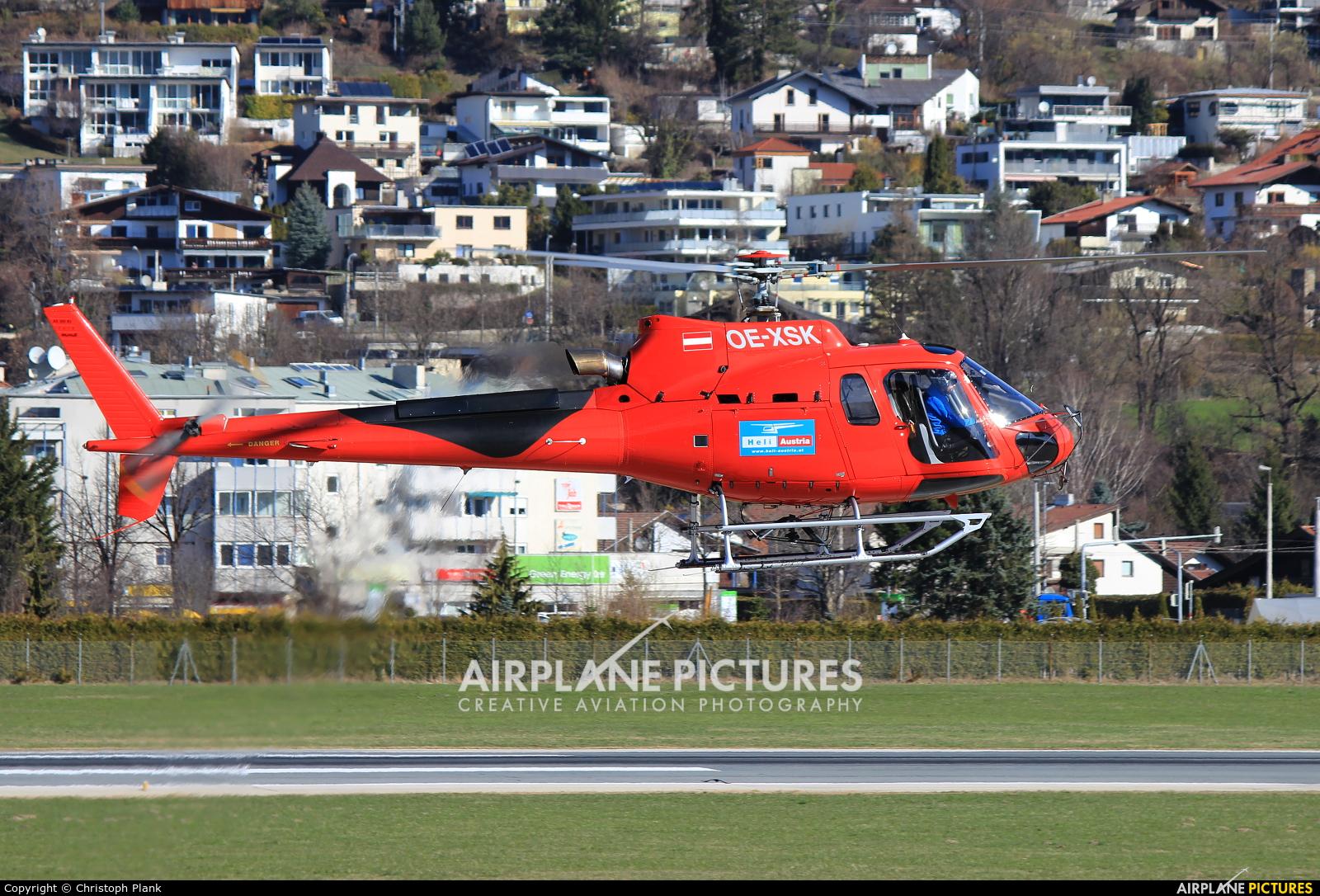 Heli Tirol OE-XSK aircraft at Innsbruck