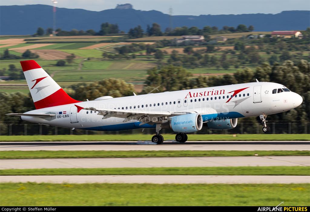 Austrian Airlines/Arrows/Tyrolean OE-LBS aircraft at Stuttgart