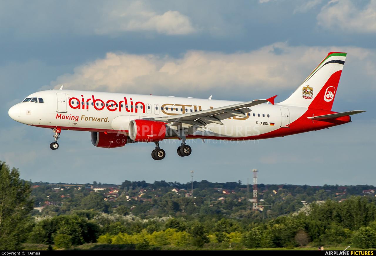 Air Berlin D-ABDU aircraft at Budapest Ferenc Liszt International Airport