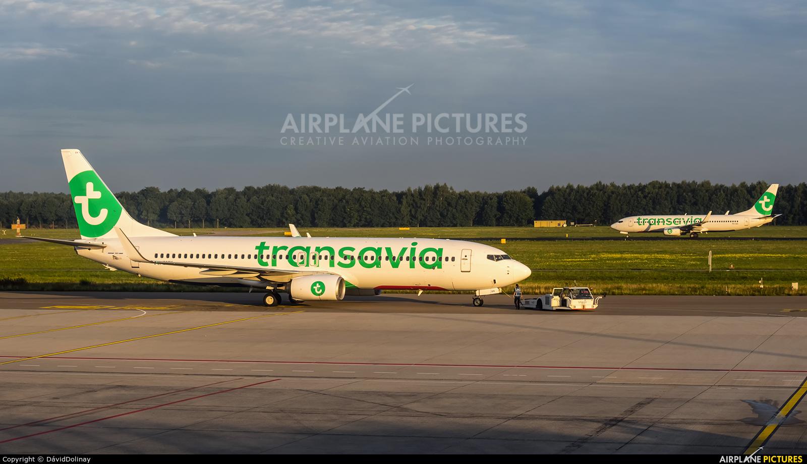 Transavia PH-GUV aircraft at Eindhoven