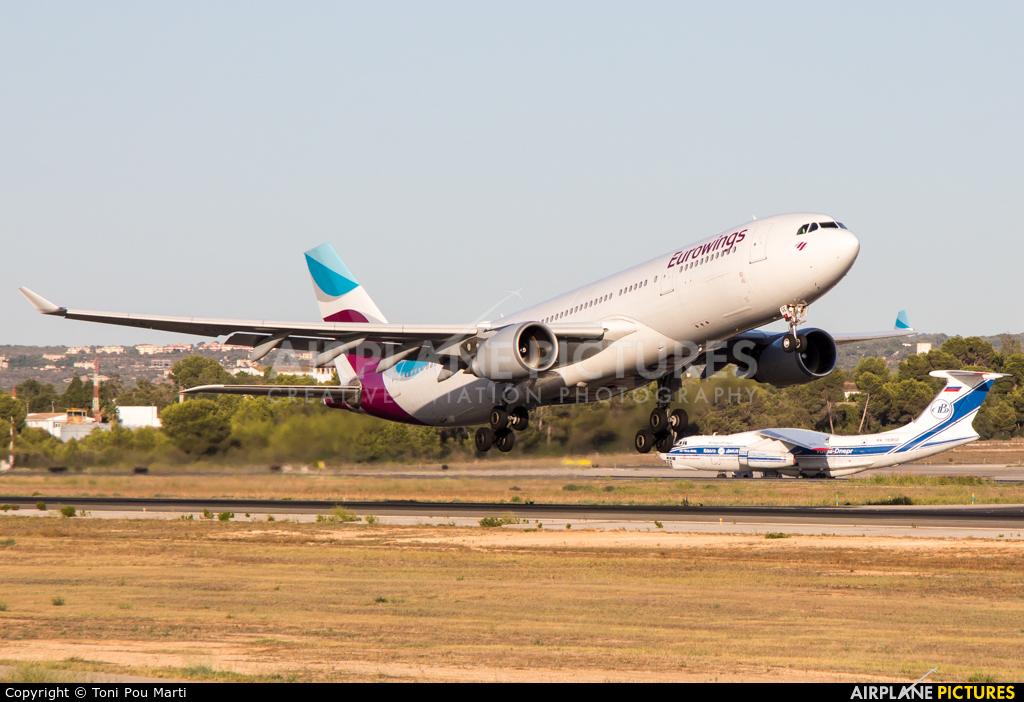 Eurowings D-AXGE aircraft at Palma de Mallorca