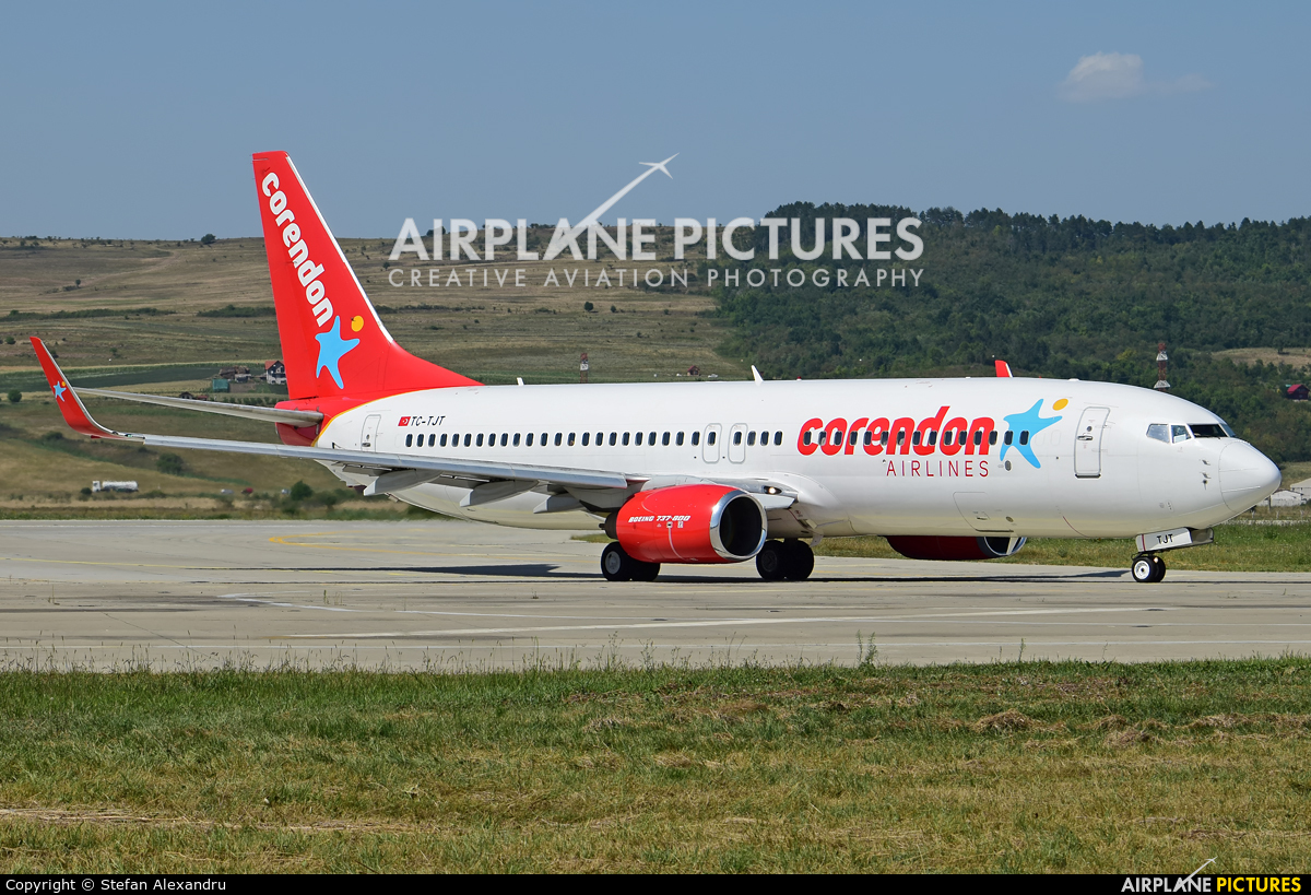 Corendon Airlines TC-TJT aircraft at Cluj Napoca - Someseni