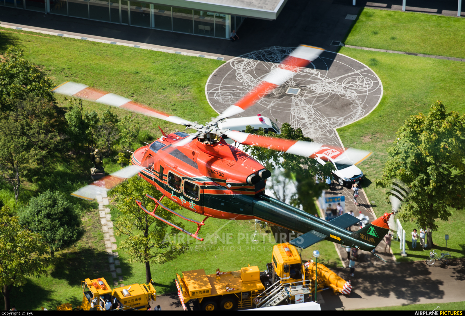 Toyama Prefecture Air Rescue JA6768 aircraft at Off Airport - Japan