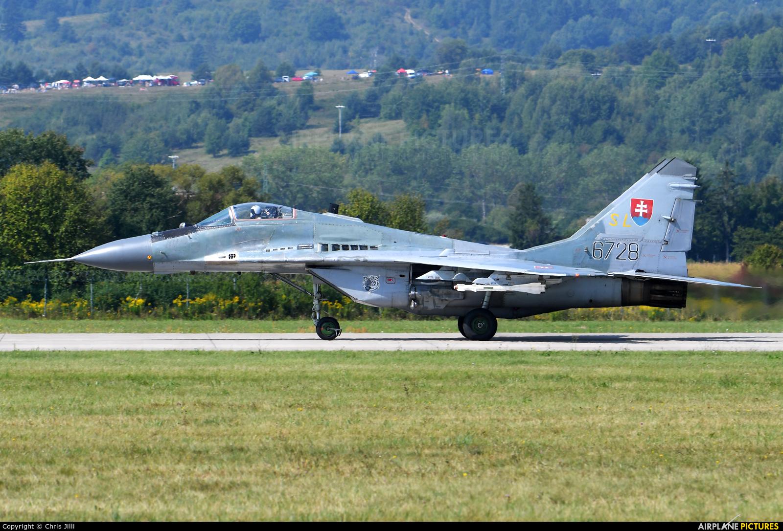 Slovakia -  Air Force 6728 aircraft at Sliač