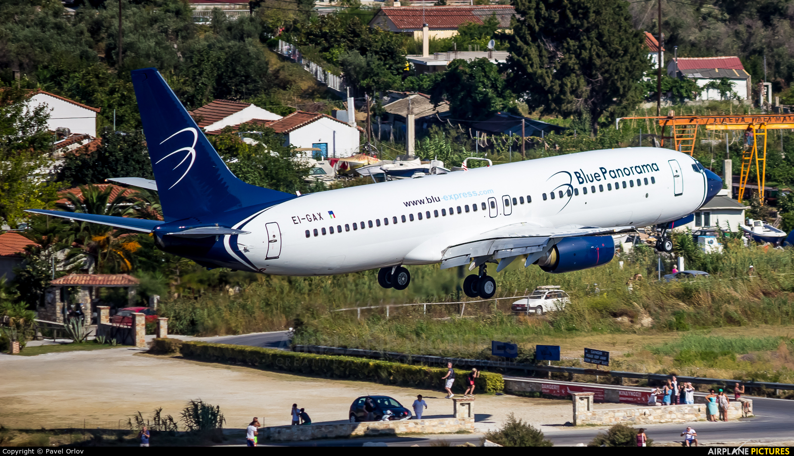 Blue Panorama Airlines EI-GAX aircraft at Skiathos
