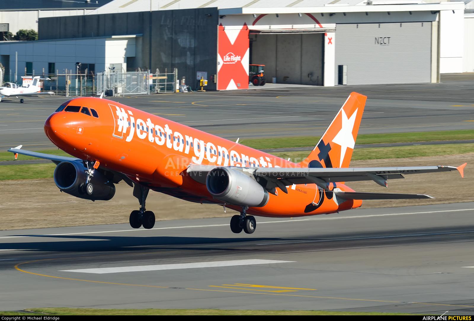 Jetstar Airways VH-VGF aircraft at Wellington Intl