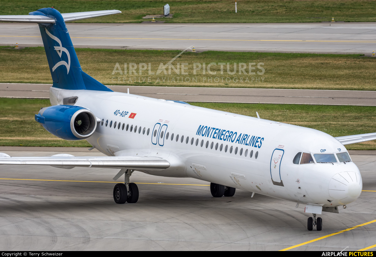 Montenegro Airlines 4O-AOP aircraft at Zurich