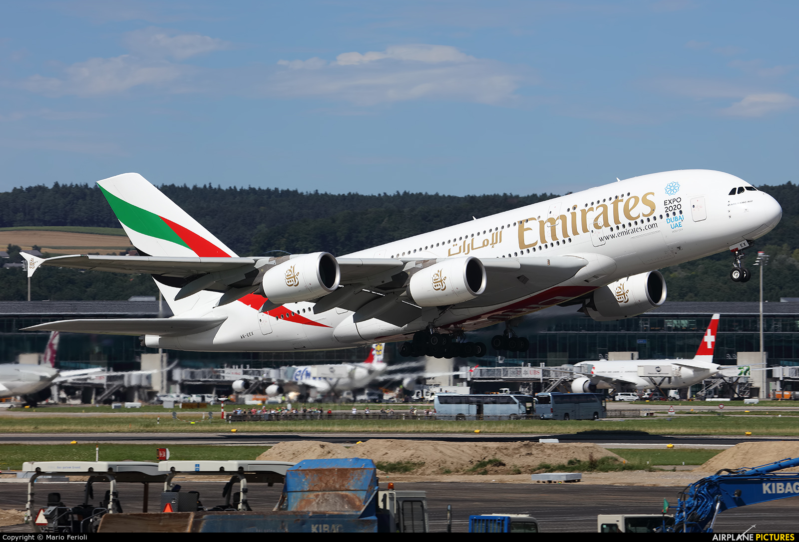 Emirates Airlines A6-EEX aircraft at Zurich