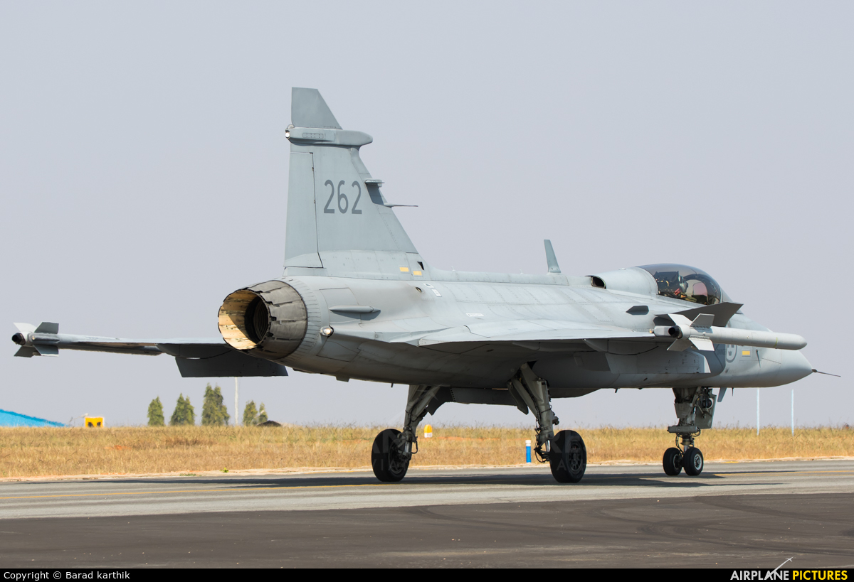 Sweden - Air Force 262 aircraft at Yelahanka AFB