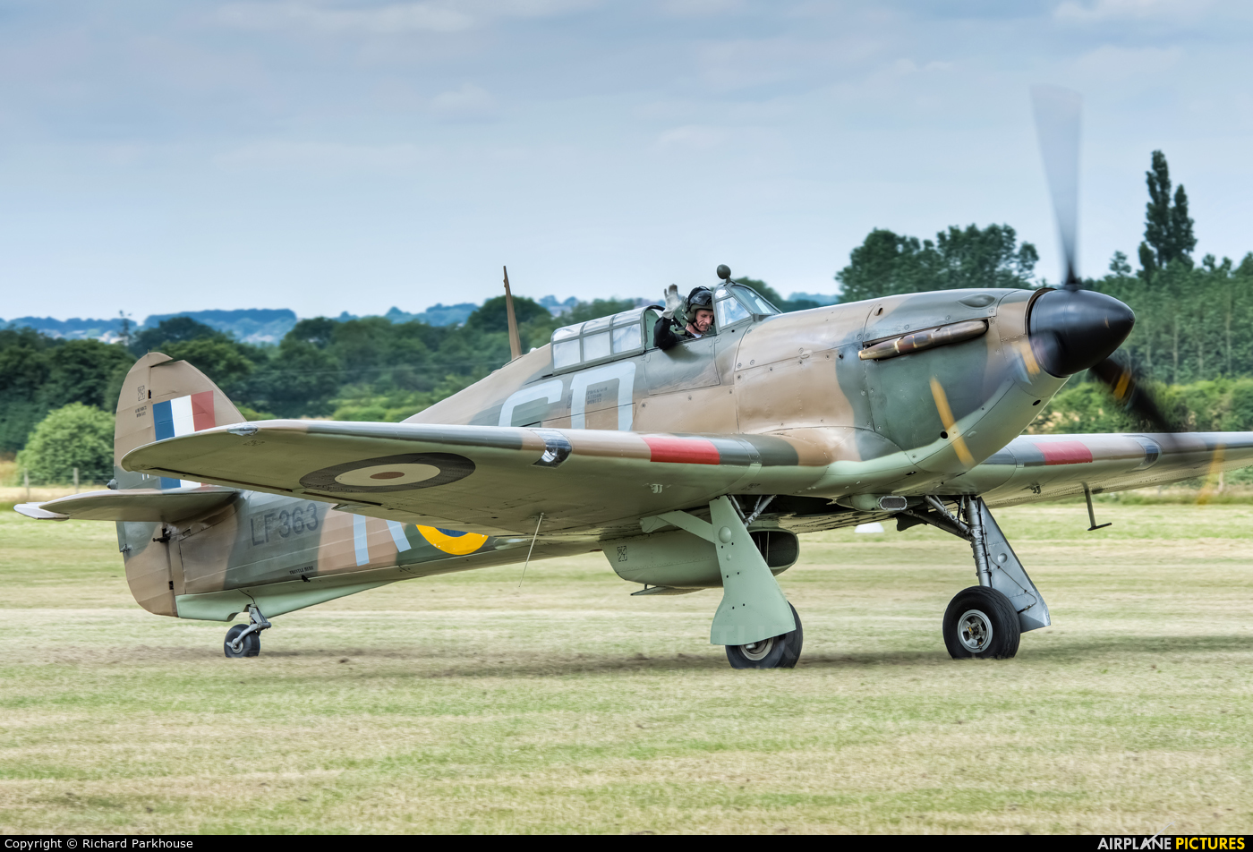 "Royal Air Force ""Battle of Britain Memorial Flight"" LF363 aircraft at Lashenden / Headcorn"