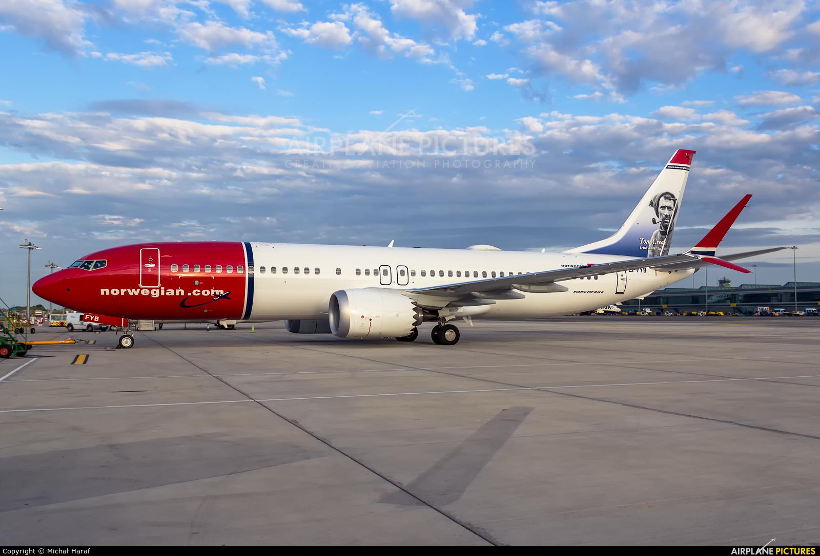 Norwegian Air Shuttle EI-FYB aircraft at Dublin