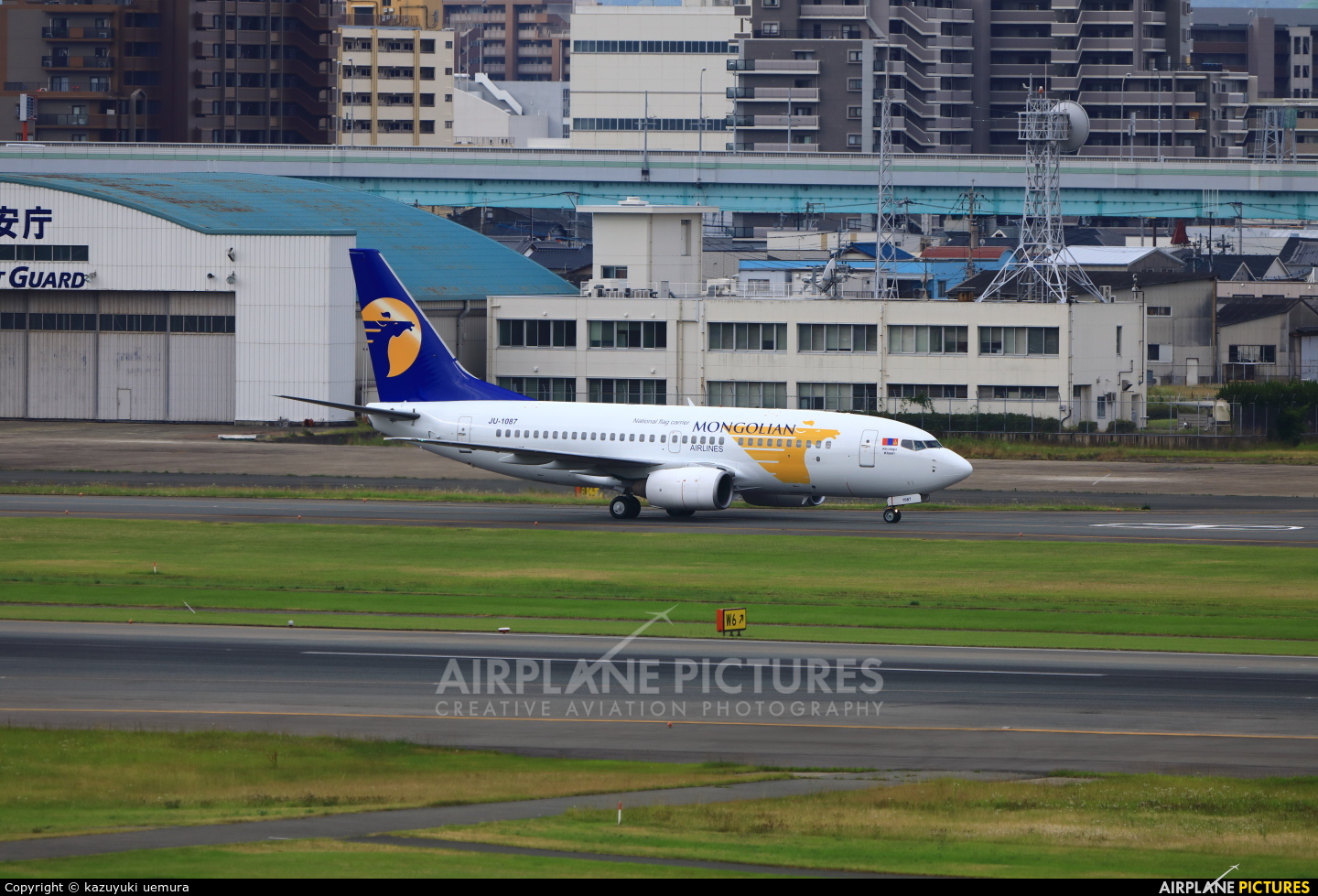 Mongolian Airlines JA-1087 aircraft at Fukuoka
