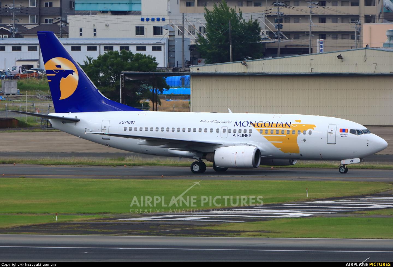 Mongolian Airlines JU-1087 aircraft at Fukuoka