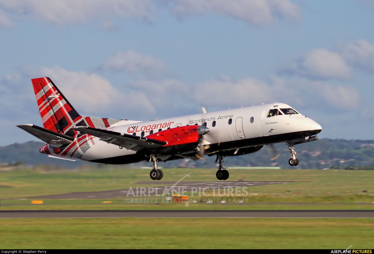 Loganair G-LGNF aircraft at Edinburgh