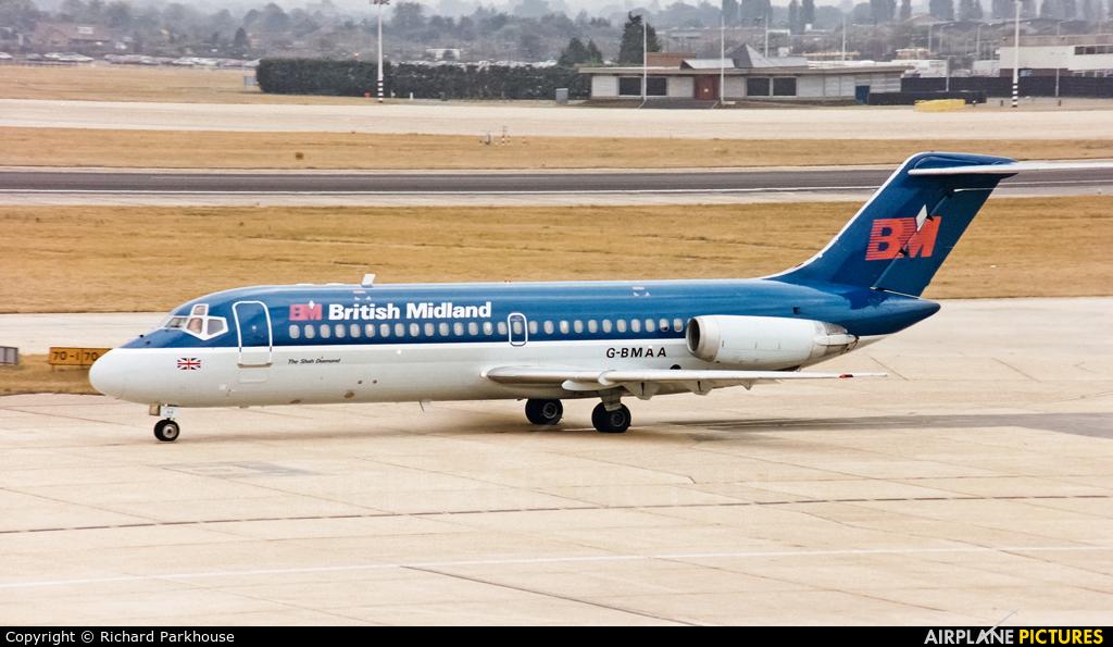 British Midland G-BMAA aircraft at London - Heathrow