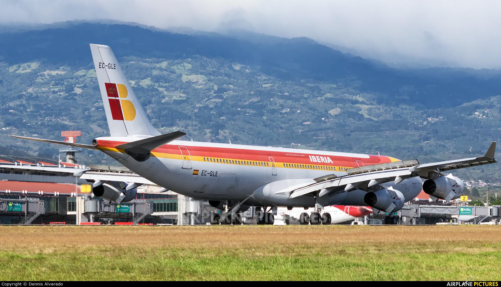Iberia EC-GLE aircraft at San Jose - Juan Santamaría Intl