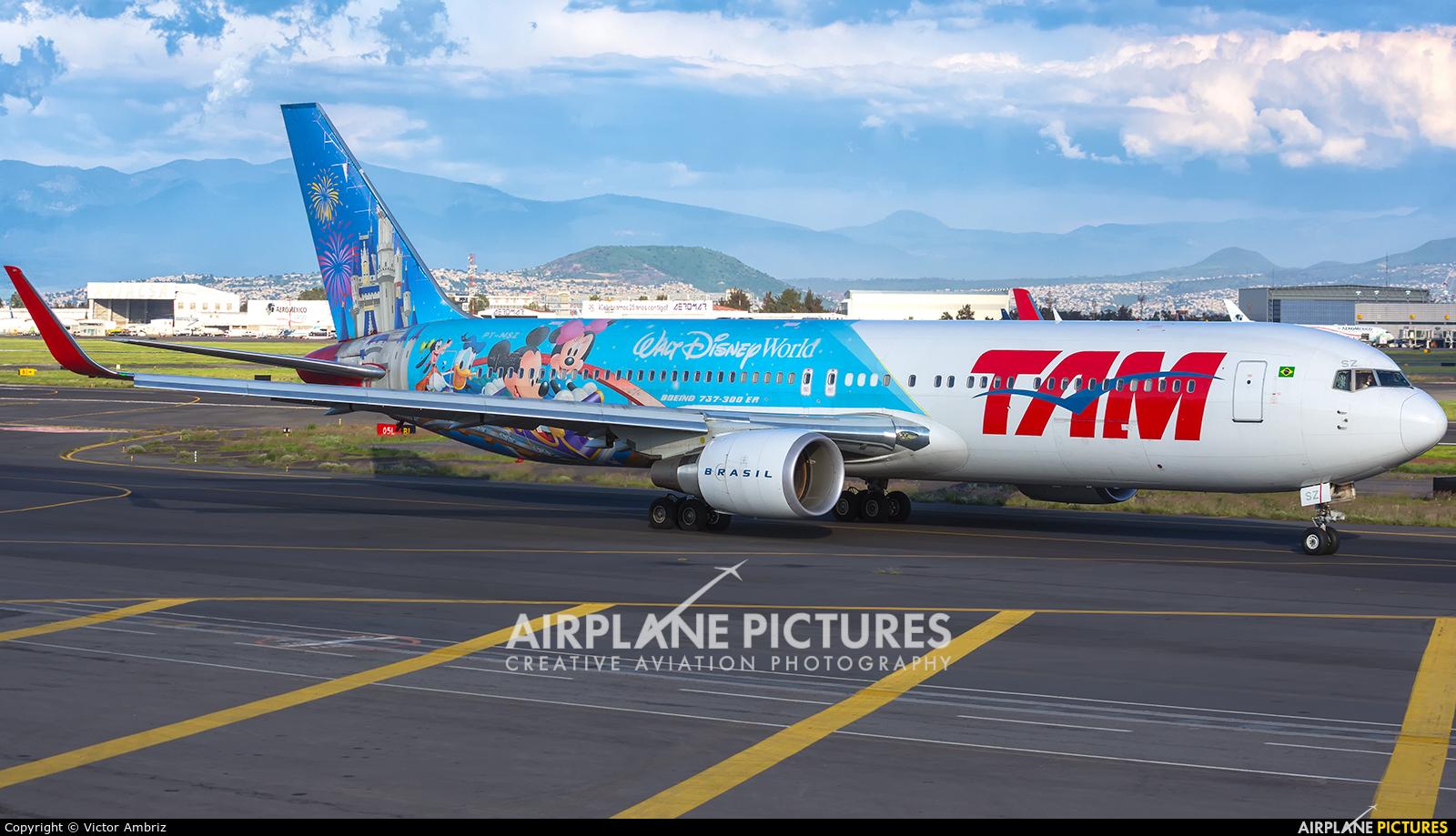 TAM PT-MSZ aircraft at Mexico City - Licenciado Benito Juarez Intl