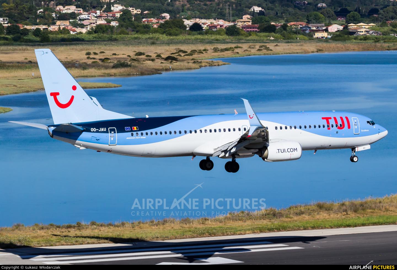 TUI Airlines Belgium OO-JAU aircraft at Corfu - Ioannis Kapodistrias