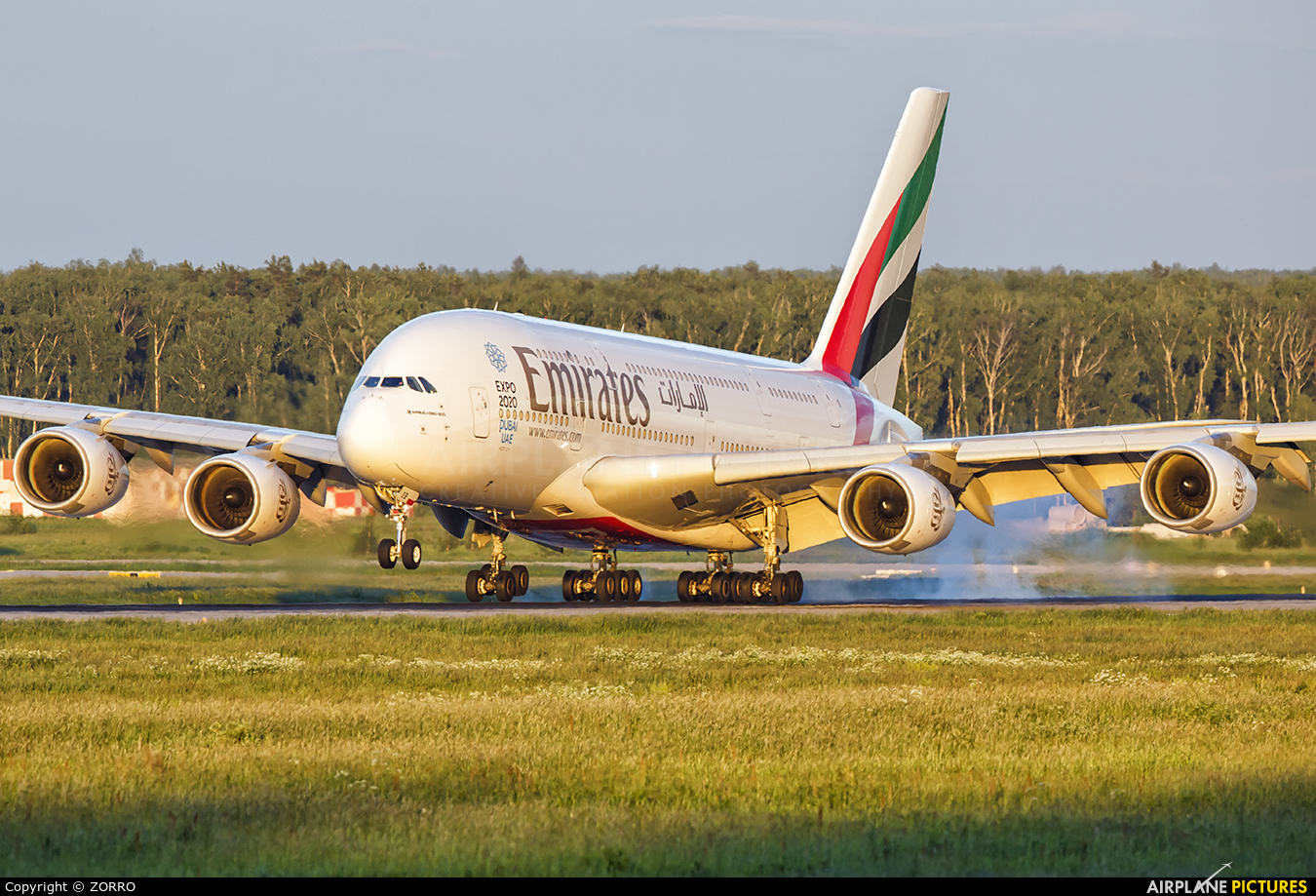 Emirates Airlines A6-EOB aircraft at Moscow - Domodedovo