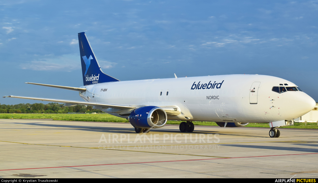 Bluebird Nordic TF-BBK aircraft at Warsaw - Frederic Chopin