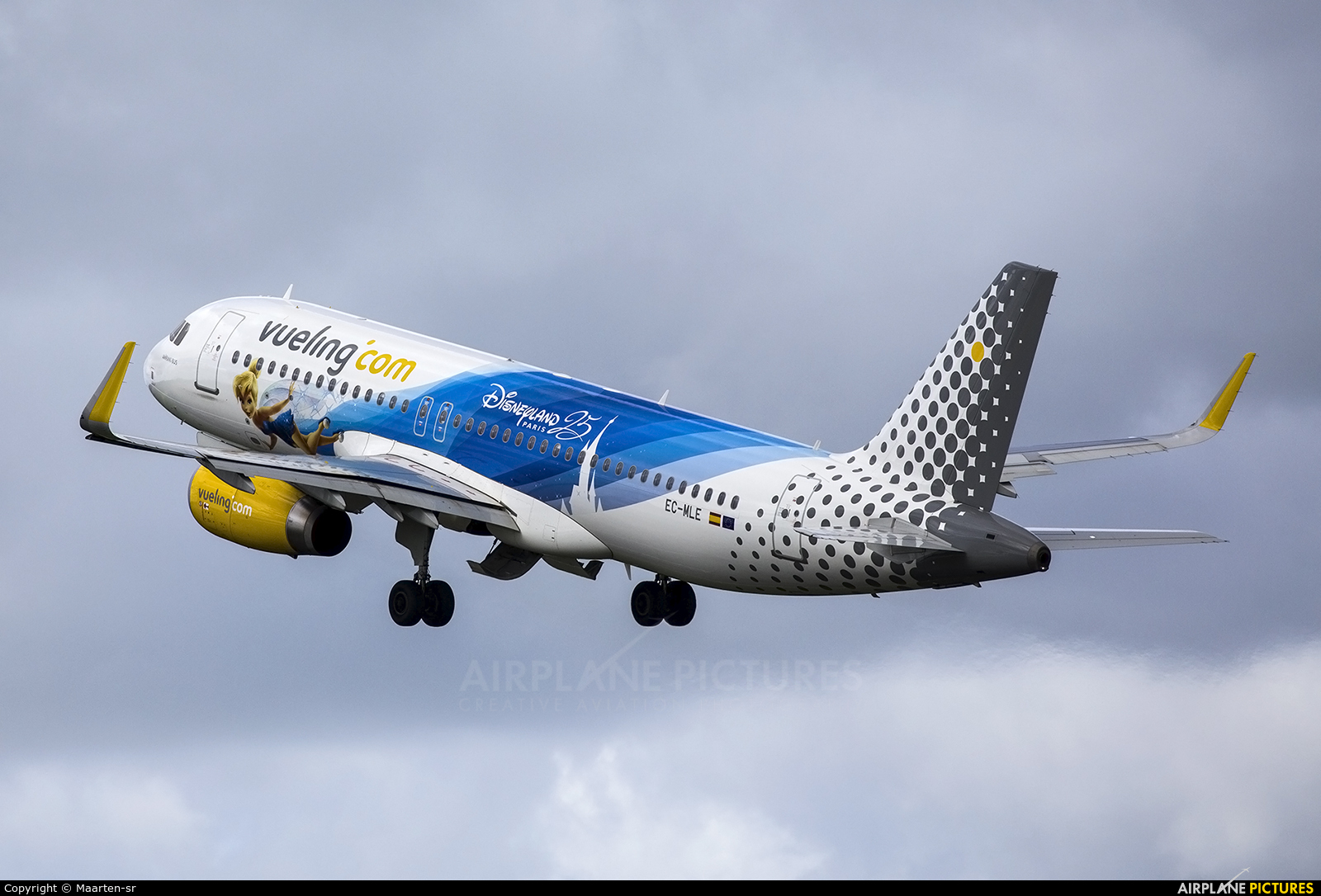 Vueling Airlines EC-MLE aircraft at Rotterdam