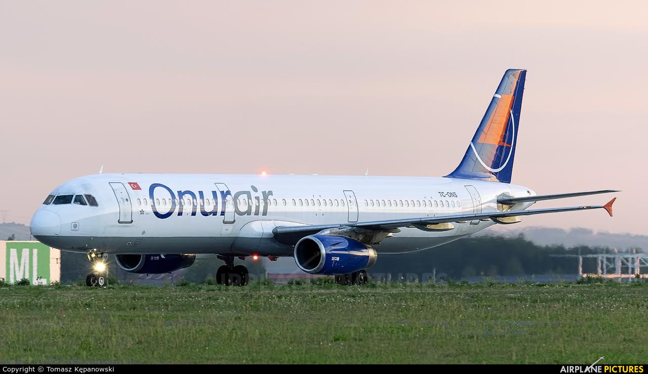 Onur Air TC-ONS aircraft at Rzeszów-Jasionka