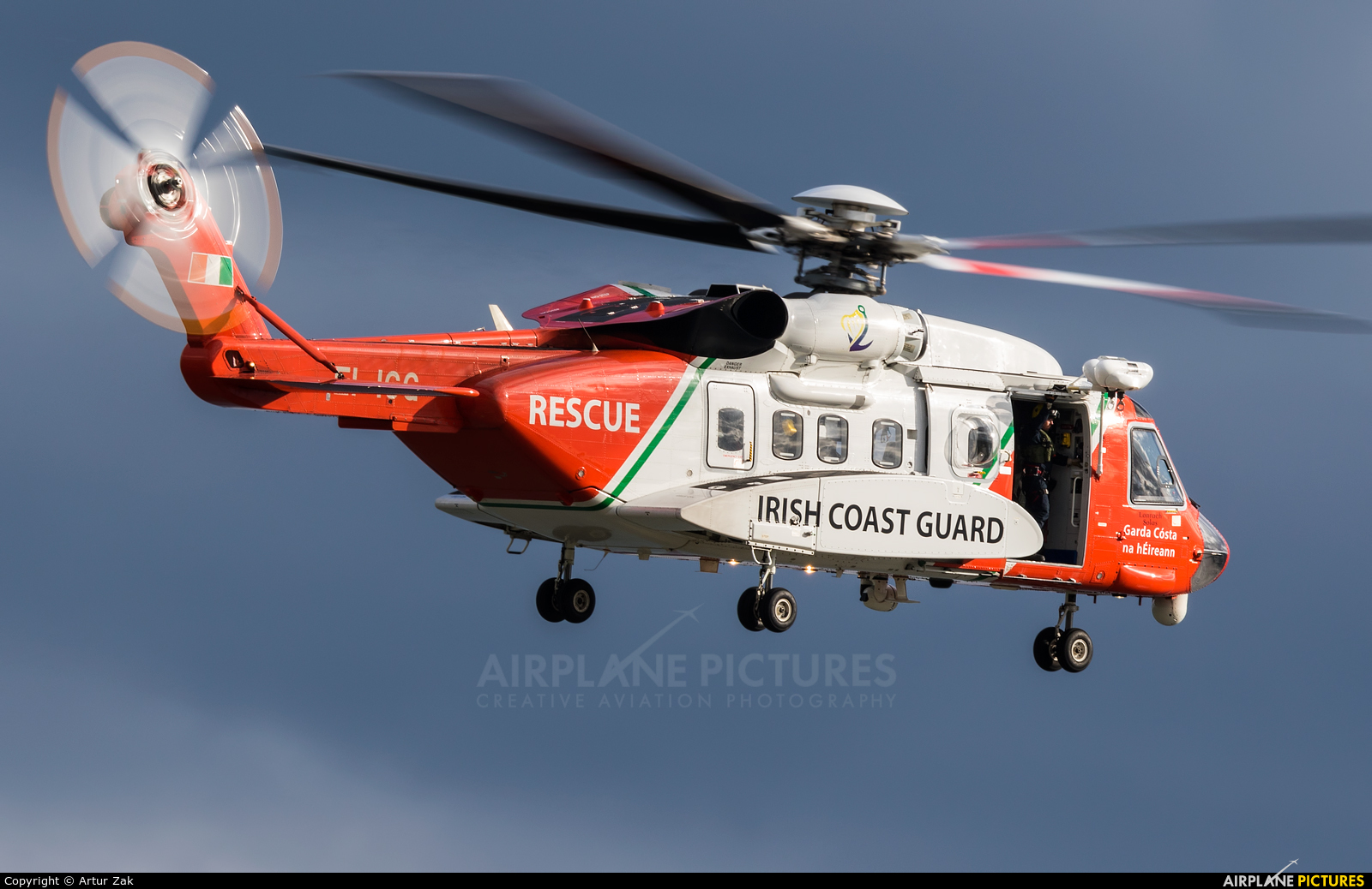 Ireland - Coast Guard EI-ICG aircraft at Newcastle - Off Airport