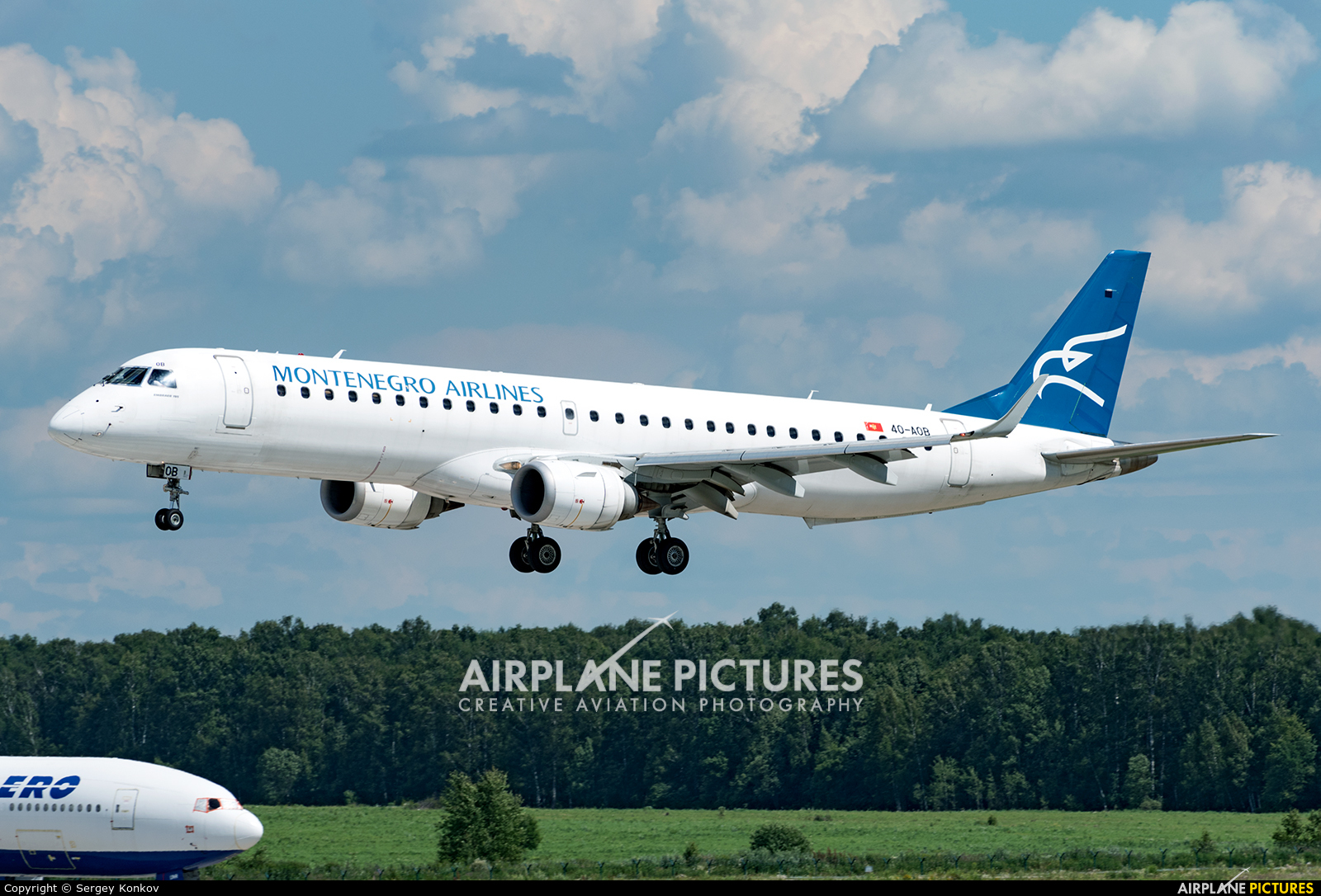 Montenegro Airlines 40-AOB aircraft at Moscow - Domodedovo
