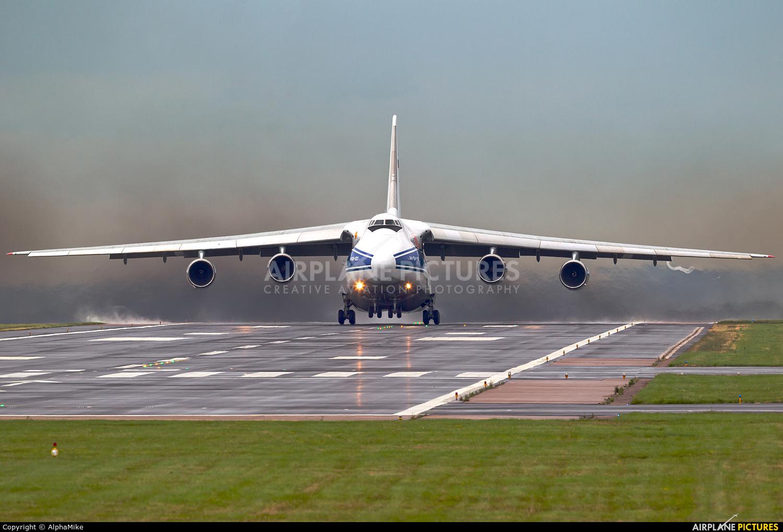Volga-Dnepr RA-82077 aircraft at East Midlands