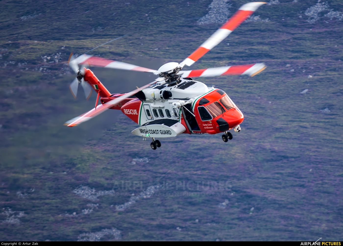 Ireland - Coast Guard EI-ICG aircraft at Newcastle - Off Airport