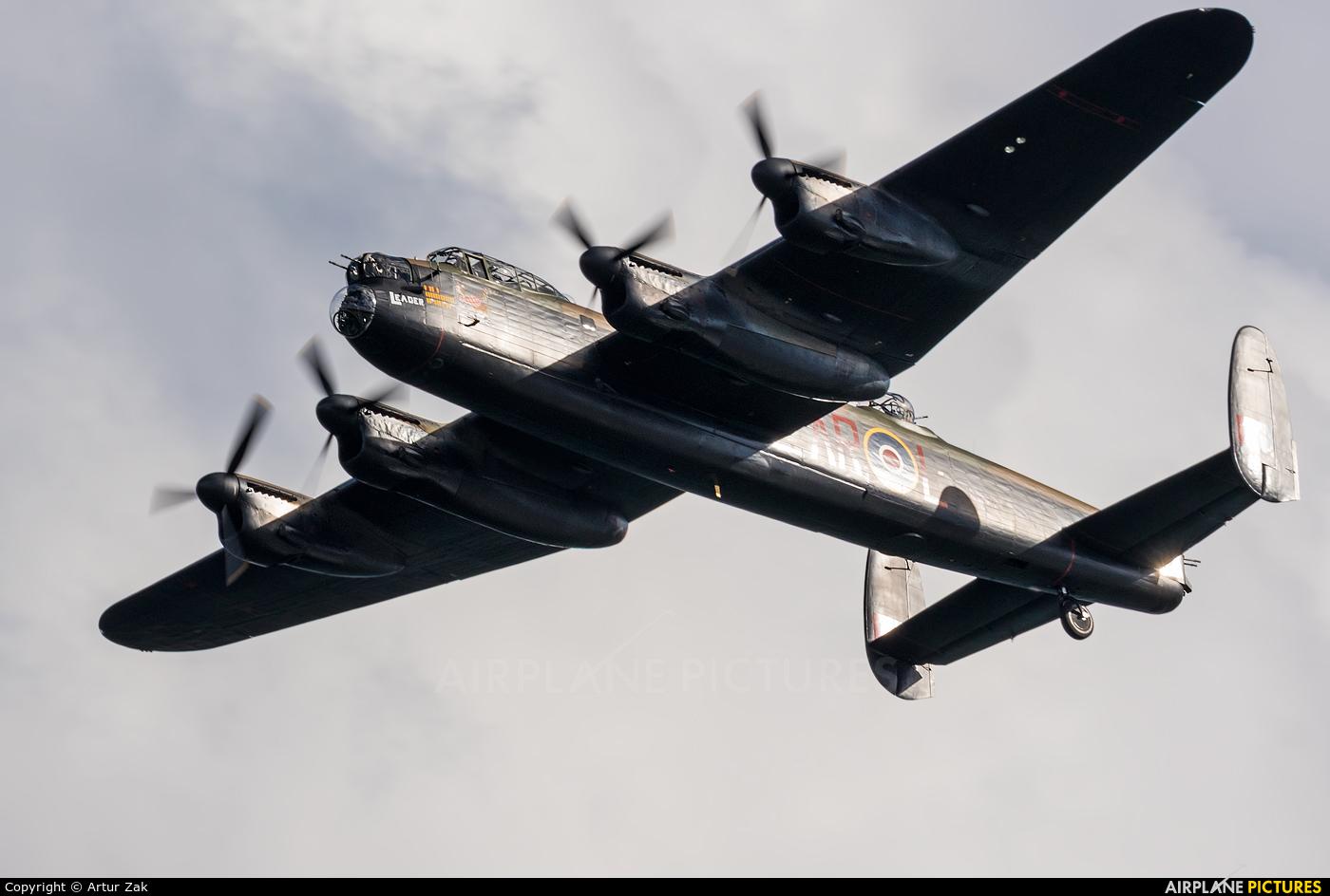 "Royal Air Force ""Battle of Britain Memorial Flight&quot PA474 aircraft at Newcastle - Off Airport"