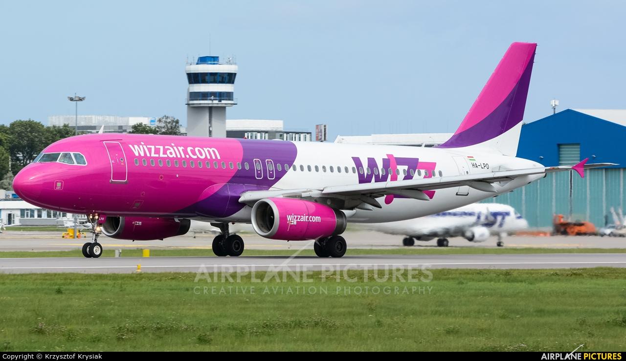 Wizz Air HA-LPO aircraft at Gdańsk - Lech Wałęsa