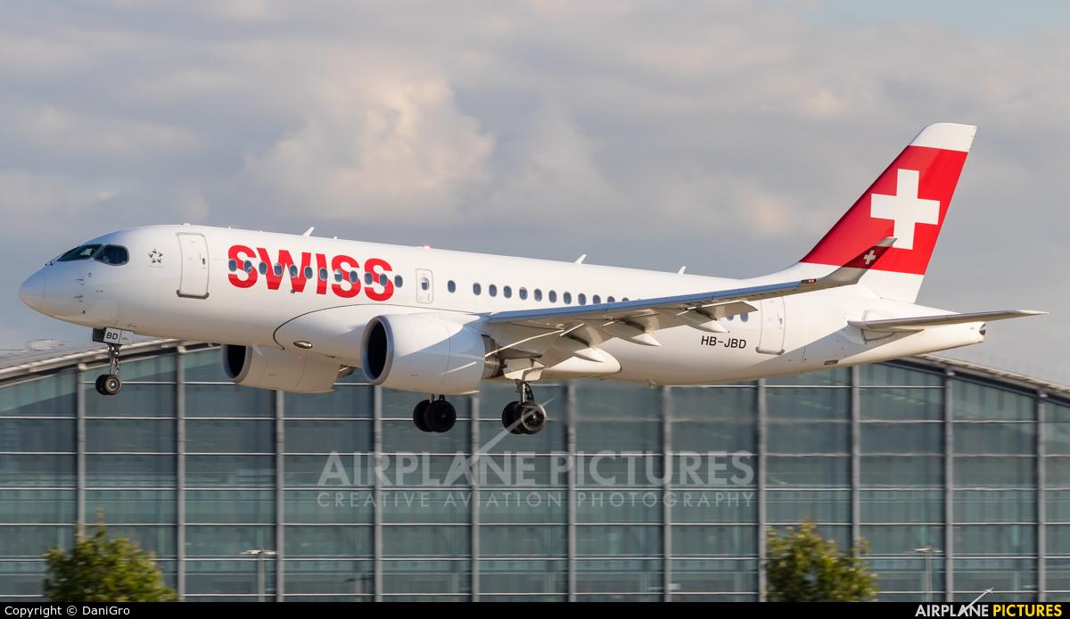 Swiss HB-JBD aircraft at London - Heathrow