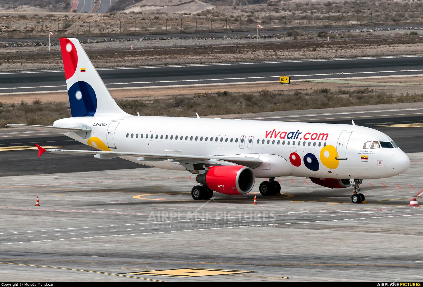 Viva Colombia LZ-AWJ aircraft at Tenerife Sur - Reina Sofia