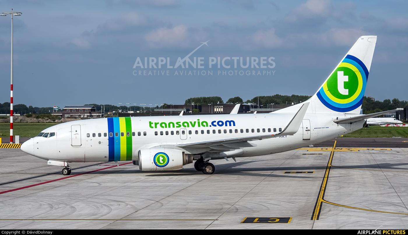 Transavia PH-XRY aircraft at Rotterdam